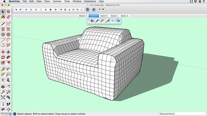 MeshWrapper Tool 1.0.1 for Sketchup