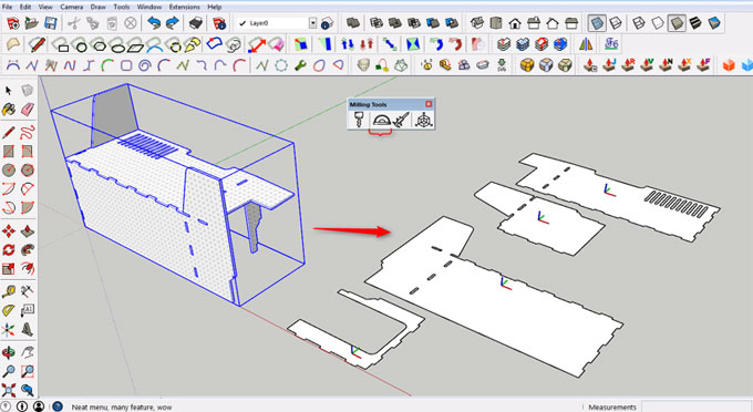 Milling Tools – The newest sketchup extension