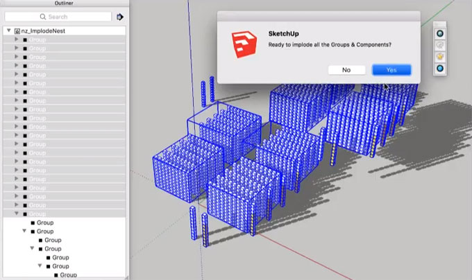 nz_Implode – The newest sketchup extension
