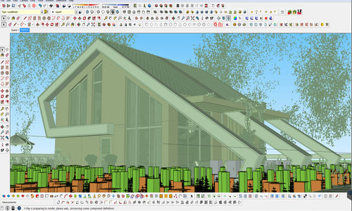 How to use skatter for sketchup to develop boxwood and hedge instantly