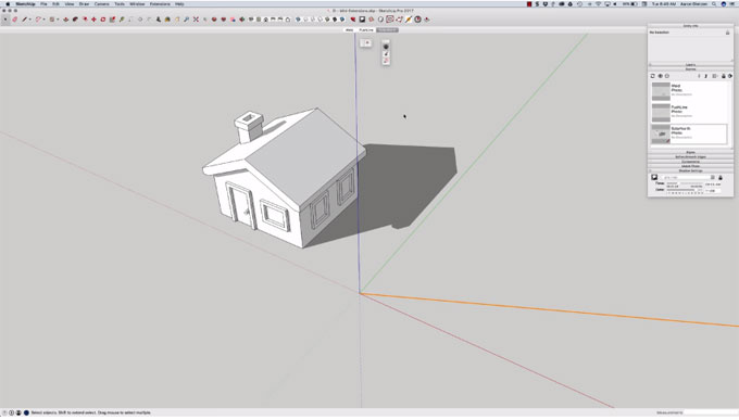 Demonstration of some useful mini sketchup extensions