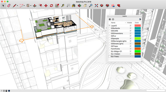 Some useful features of Sketchup Pro 2018