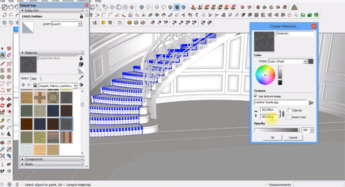 How to design a staircase with sketchup & render with v-ray 3.4
