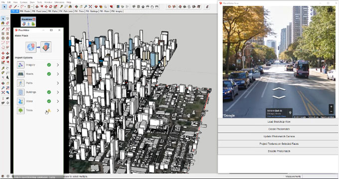 How to use placemaker sketchup extension to model a city instantly