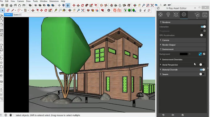 How to model & render a villa with vray 3.4 for sketchup 2017