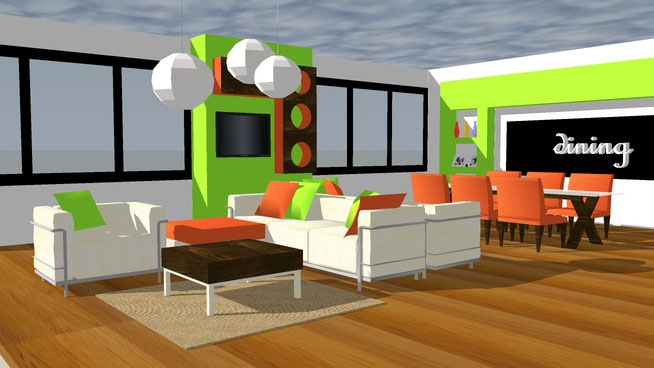 Living Room 3d Warehouse  sketchup components 3d warehouse