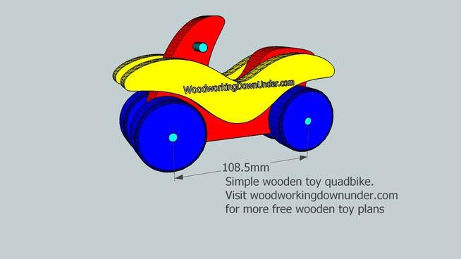 Wooden toy quadbike