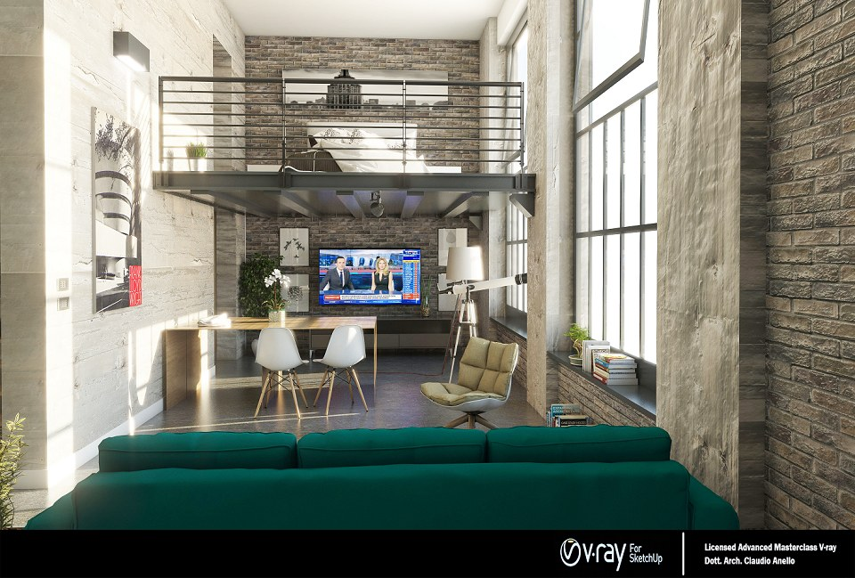 Free 3D Models LOFT APARTMENTS Industrial Loft By