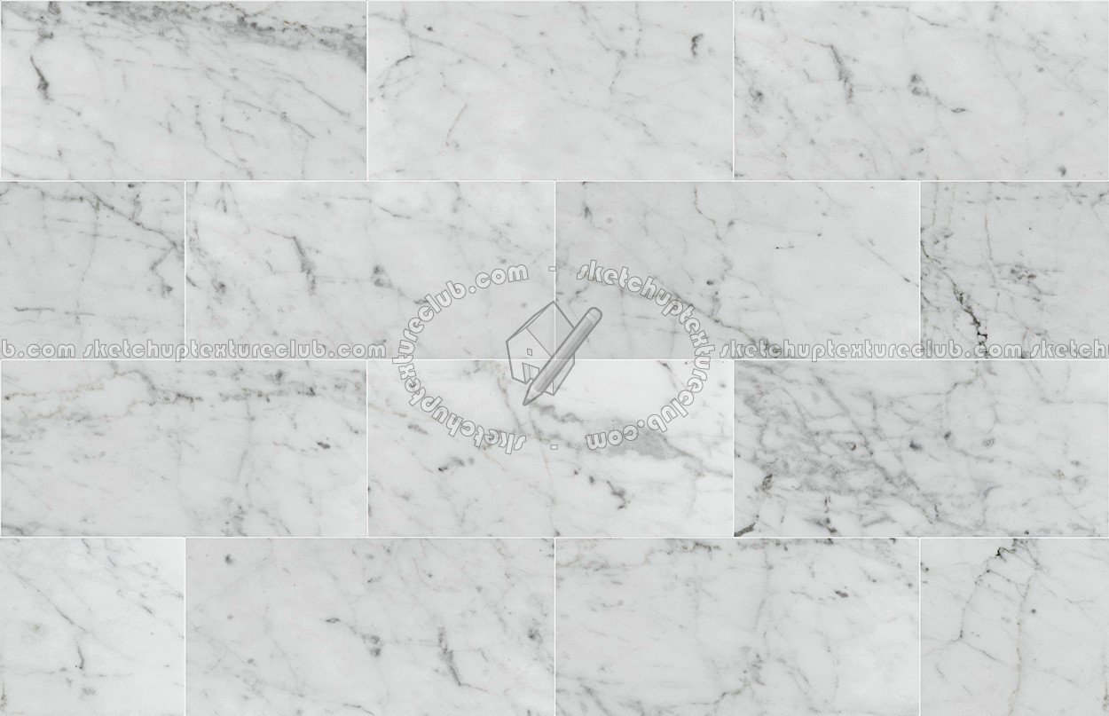 Carrara White Marble Floor Tile Texture Seamless