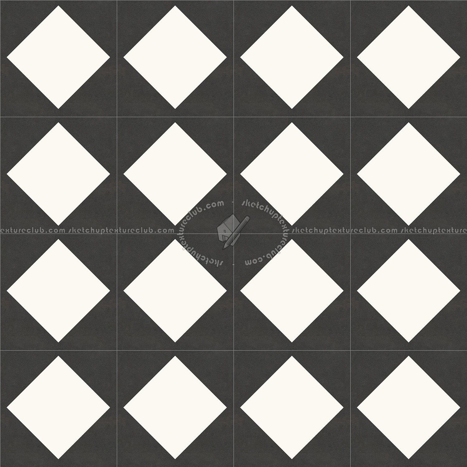 Checkerboard Cement Floor Tile Texture Seamless