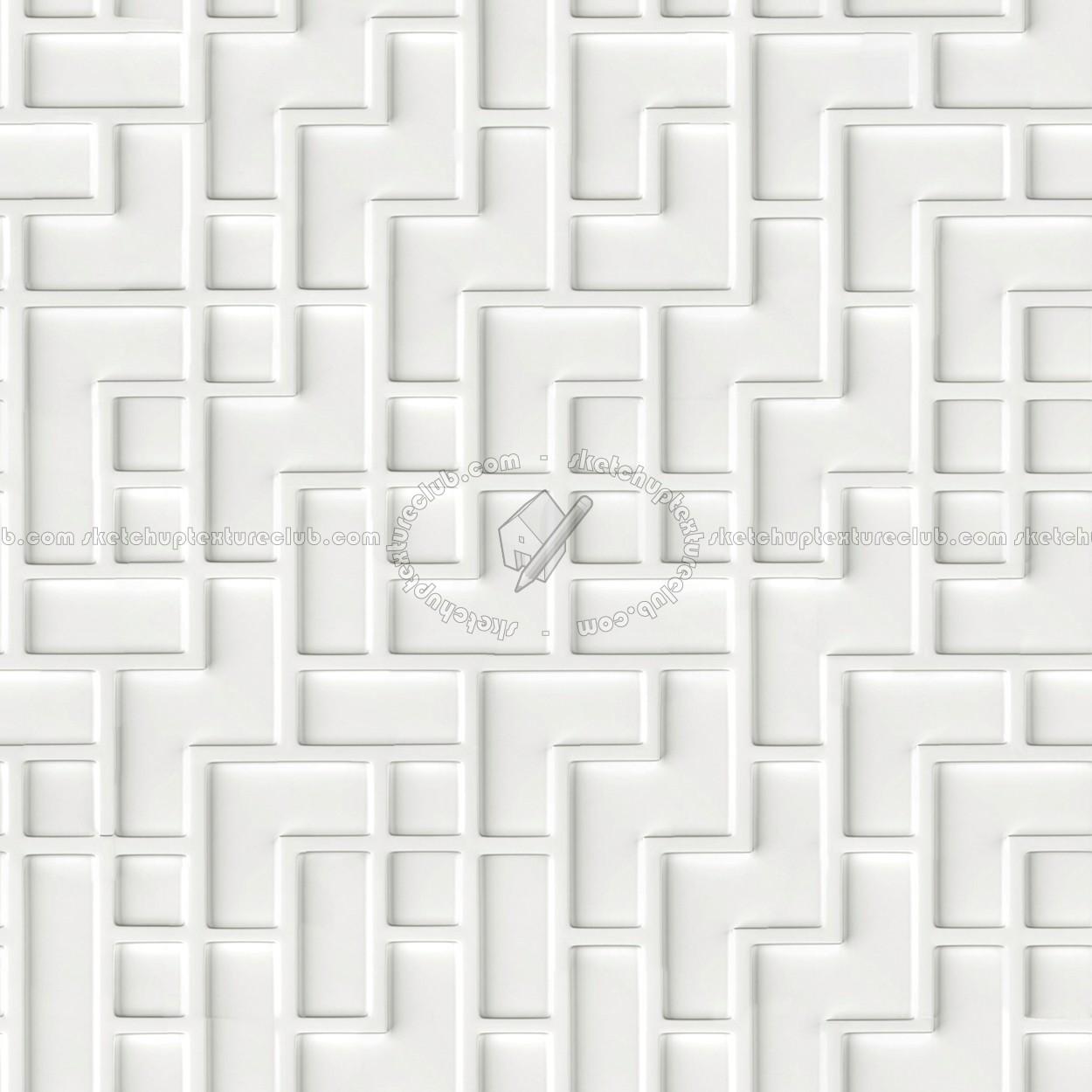 White Interior 3d Wall Panel Texture Seamless