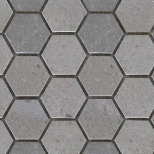 Marble paving outdoor hexagonal texture seamless 05985   Hot