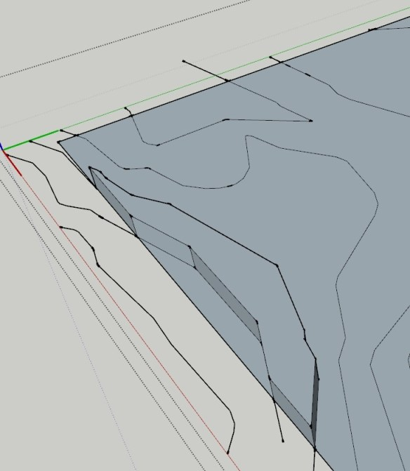 Creating a Topography Mesh from Flat Contours in SketchUp