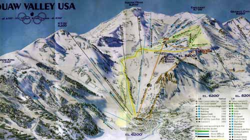Lake Tahoe Squaw Valley Map