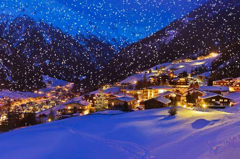 Skien met kerst