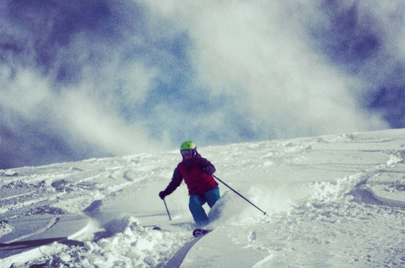 Valle Nevado powder day