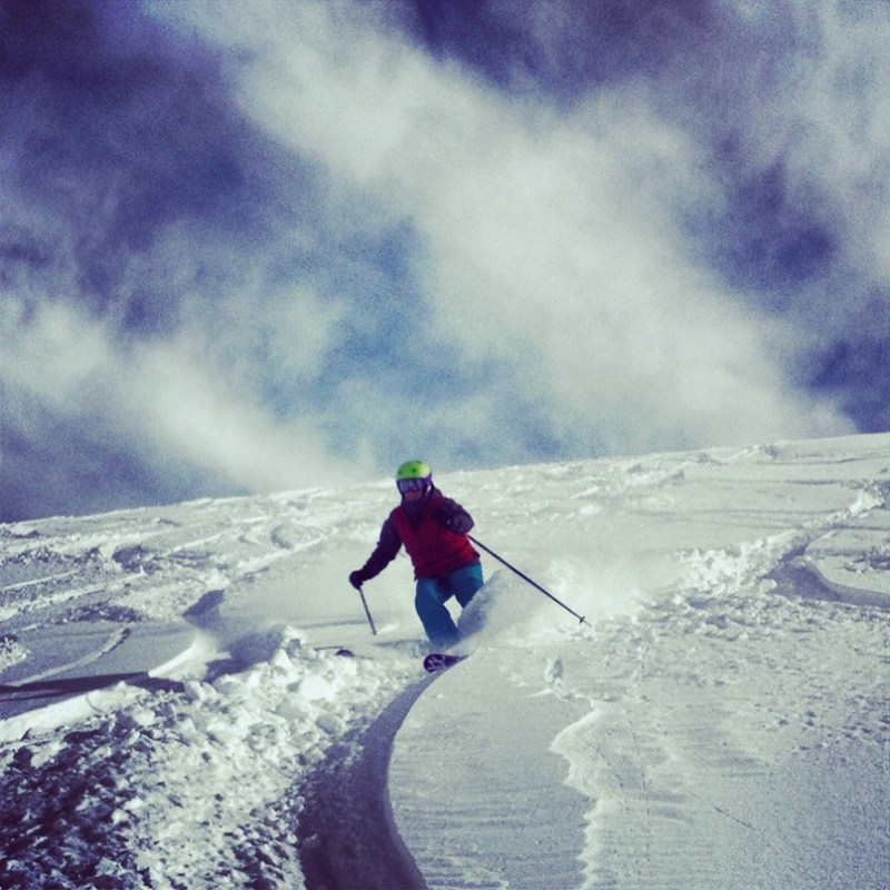 Valle Nevado powder day