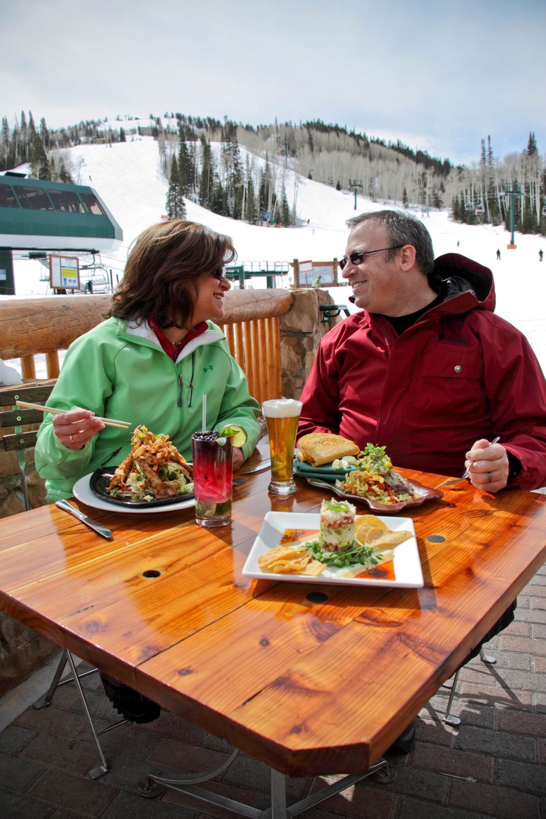 Royal Street Cafe at Deer Valley Resort, lunch at Deer Valley, patio images of Deer Valley, dining images at Deer Valley