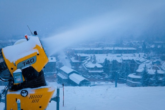 Snow guns on Aspen Mountain   Photo: Aspen/Snowmass, Jeremy Swanson