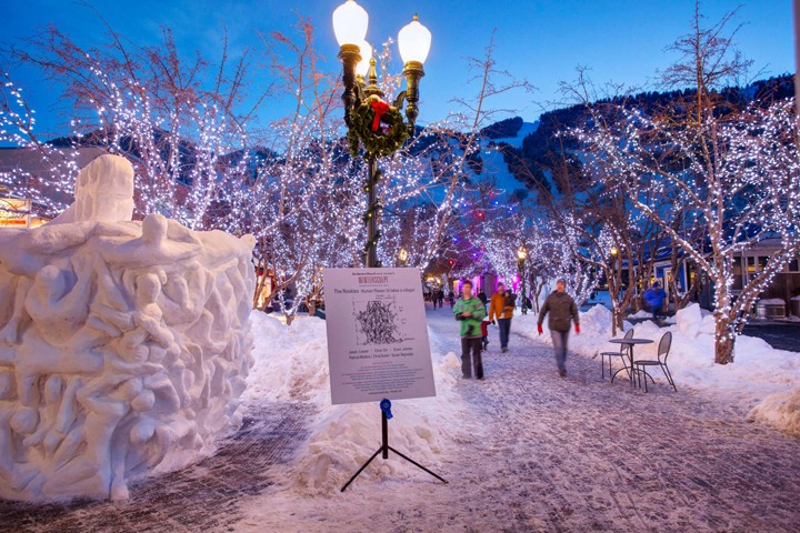 Winterskol in downtown Aspen