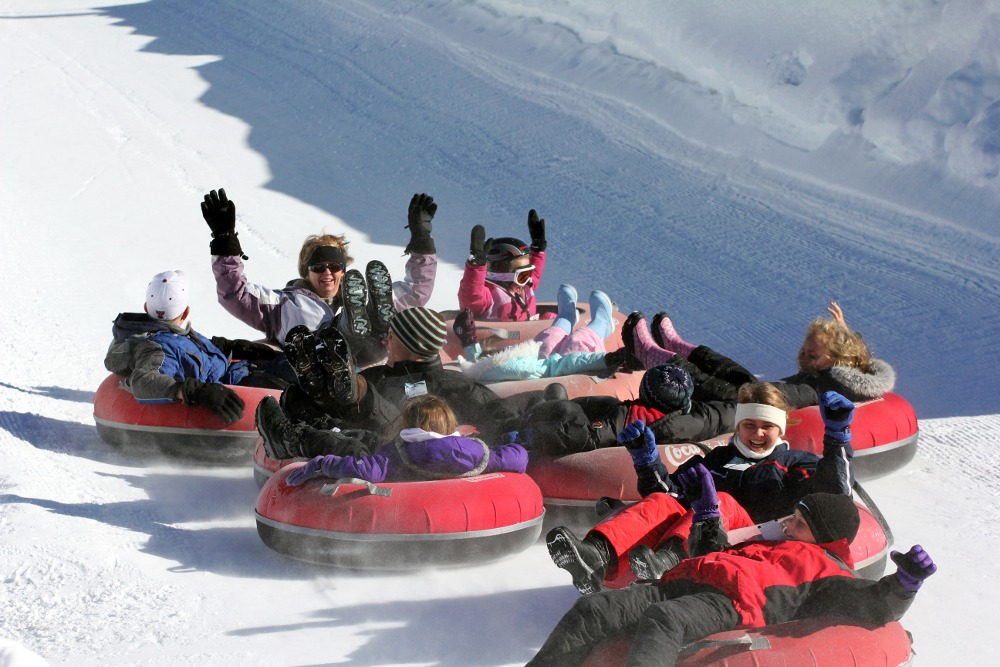 Tubing at Copper, Copper Mountain Snow Tubing