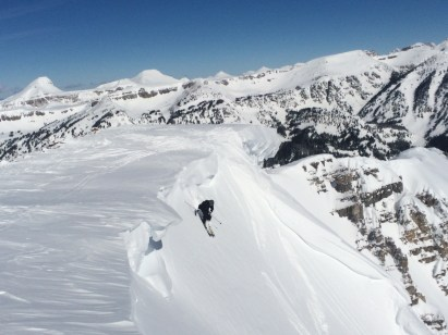 Jackson Hole Four Shadow cornice Cody Peak