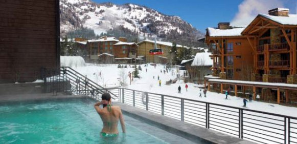 Hotel Terra hot tub, best Jackson Hole hot tub. Hotel Terra Jackson Hole