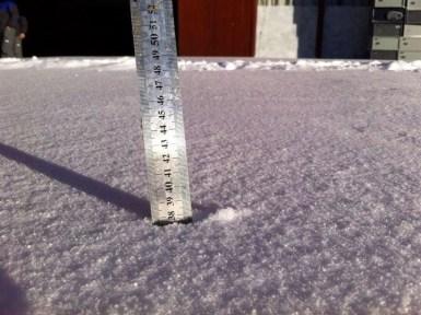 Valle Nevado snow totals