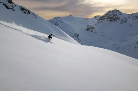 Sidecountry enthusiasts have some ski movie-worthy options off of Blackcomb Mountain. pc: Destination BC/Randy Lincks