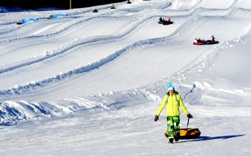 Big White snow tubing