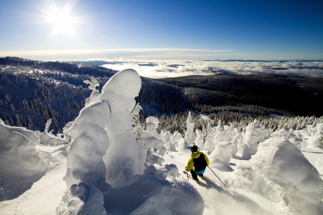 Big White's snow ghosts create a magical backdrop. pc; Destination BC