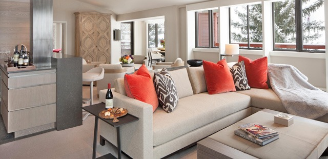 Renowned interior designer Holly Hunt redesigned The Little Nell's six signature suites.