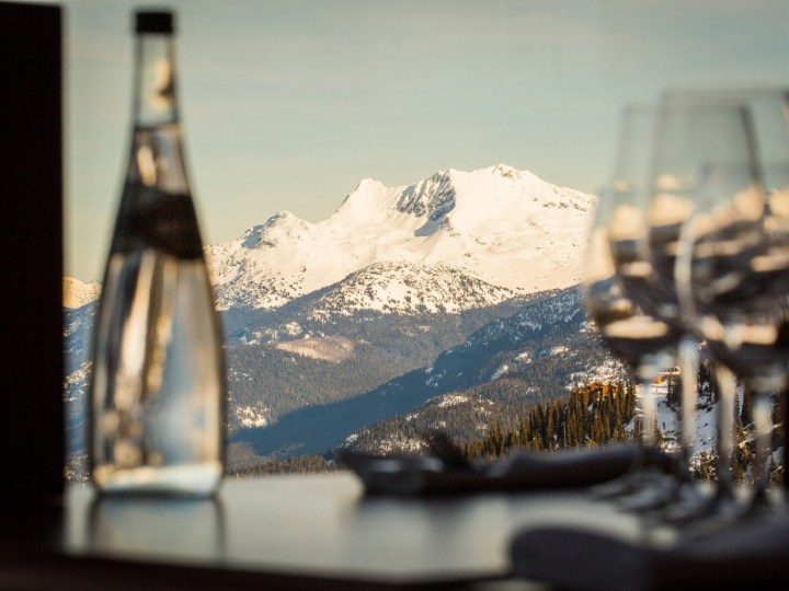 fine dining Whistler, on mountain dining Whistler