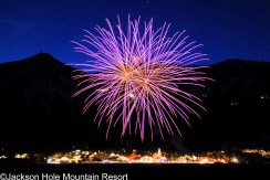 Jackson Hole fireworks, Jackson Hole New Year's Eve fireworks, Jackson NYE celebrations