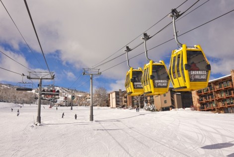 Snowmass Skittles Gondola, Snowmass Base Village, Snowmass Mall