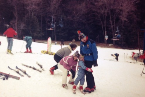 Learning to ski in New Jersey