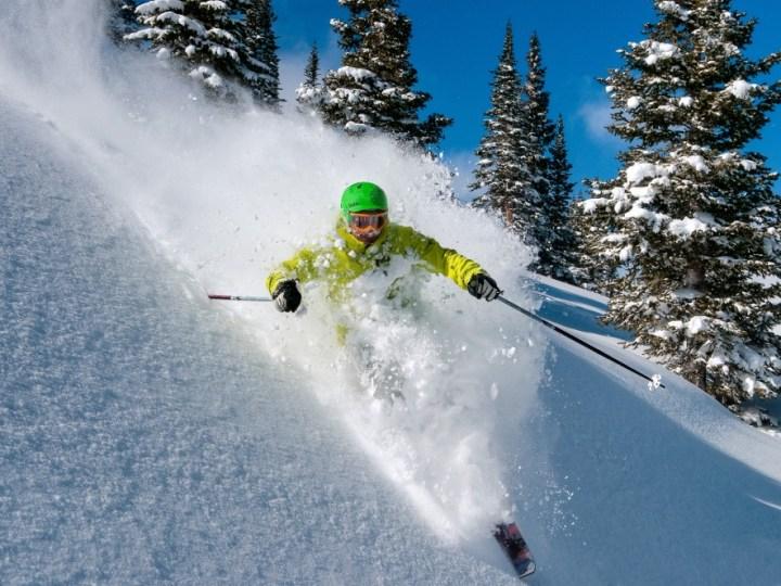 bluebird Colorado, bluebird Breckenridge, powder day Breckenridge, spring skiing Breckenridge