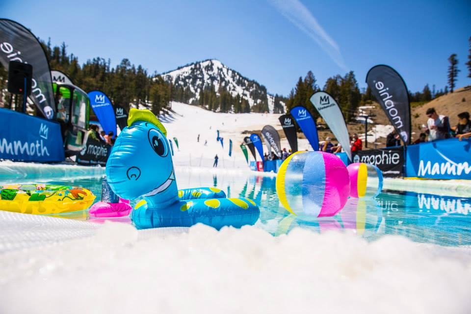 Mammoth Mountain pond skimming, Mammoth pond skimming