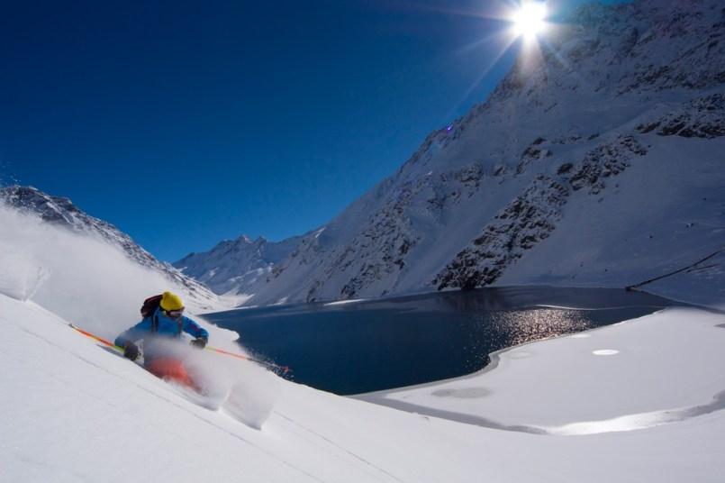 powder skiing Portillo