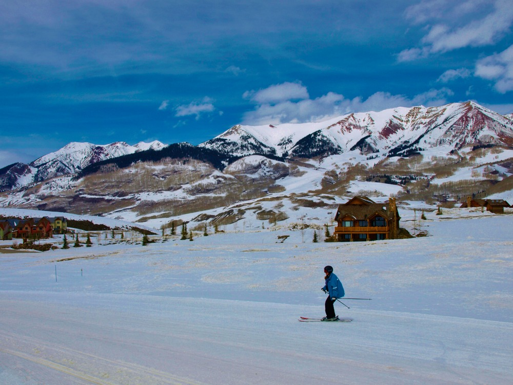 Corduroy skiing Crested Butte