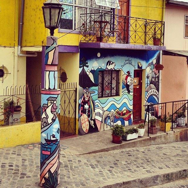 graffiti Valparaiso, South America graffiti