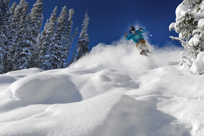 Telluride's Frontside is the best place to conquer some of the steepest mogul runs in Ski Country. | Photo: Telluride Ski Resort
