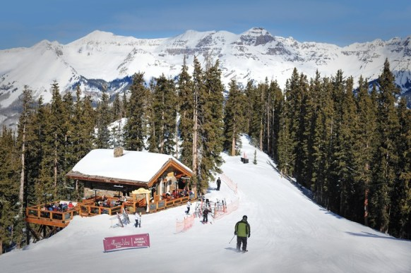 See Forever provides access to downtown Telluride, the Mountain Village and high-alpine restaurants, like Alpino Vino. | Photo: Telluride Ski Resort