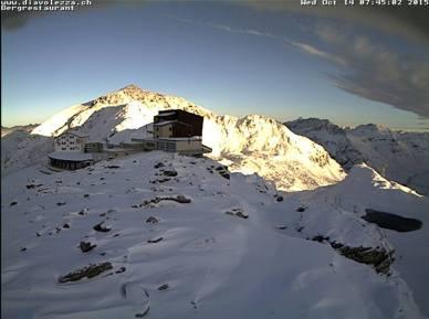 St. Moritz october snow