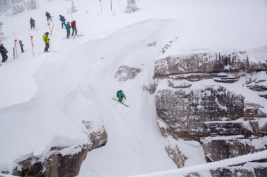 drop into Corbet's Couloir