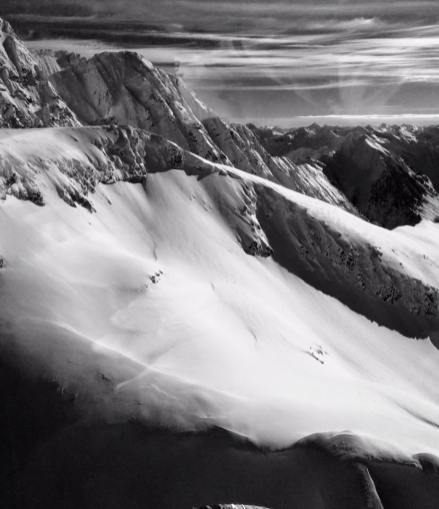 The snow-capped mountain views from the helicopter were awe-inspiring.