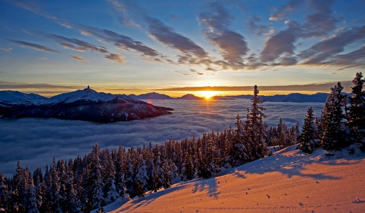 Whistler Blackcomb sunrise