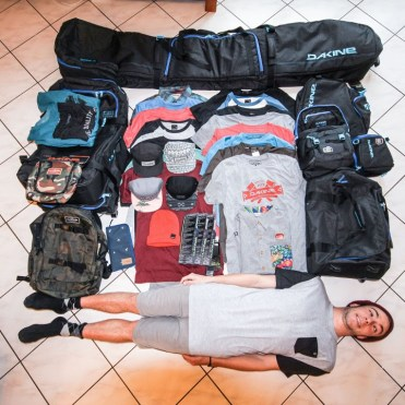 Ski/snowboard gear takes up a lot of space. | Photo: Dakine