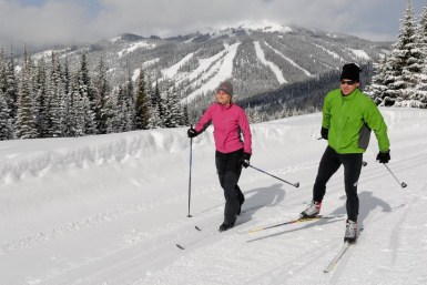 Sun Peaks also has an excellent Nordic trail system. | Photo: Sun Peaks Resort