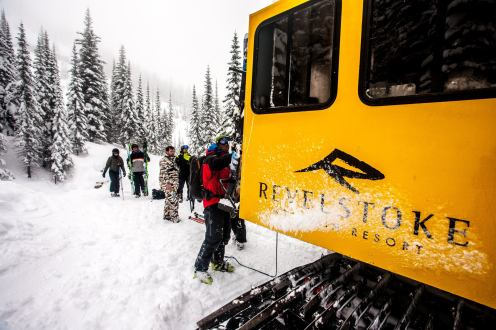 All the recent snow is great reason to book a ride in the Storm Cat | Photo :John Antoniuk, Revelstoke Mountain Resort